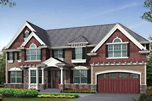 Architectural House Design - Craftsman Exterior - Front Elevation Plan #132-461