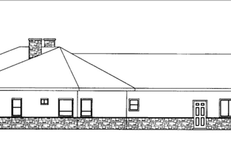Adobe / Southwestern Exterior - Other Elevation Plan #117-832 - Houseplans.com