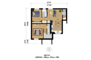 Contemporary Style House Plan - 3 Beds 2 Baths 2176 Sq/Ft Plan #25-4354 Floor Plan - Lower Floor Plan