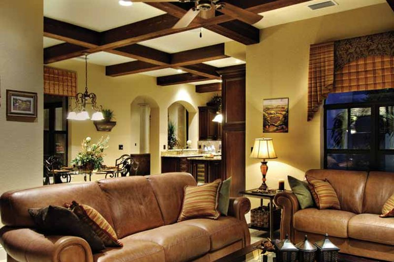 Mediterranean Interior - Family Room Plan #930-428 - Houseplans.com