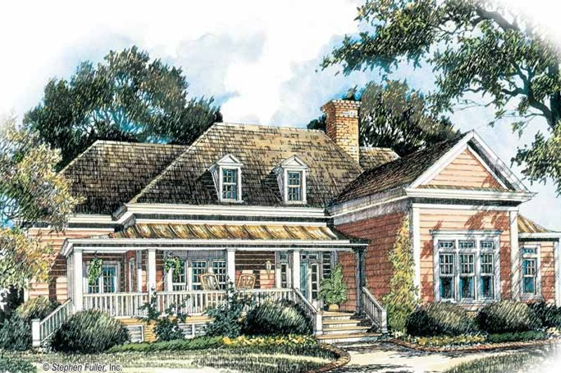 Ranch Exterior - Front Elevation Plan #429-208