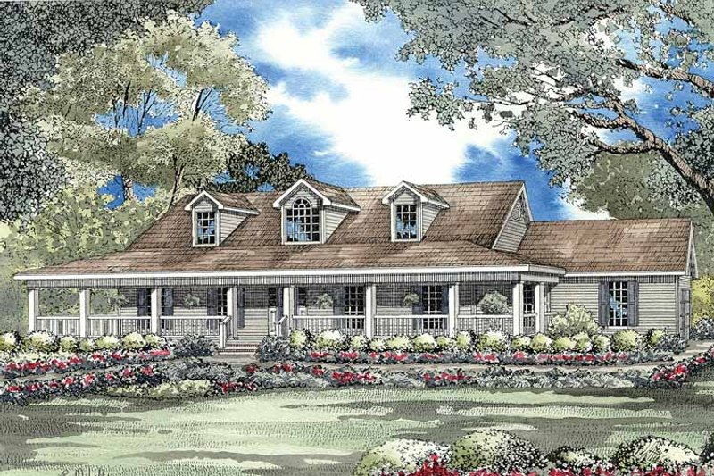 Ranch Exterior - Front Elevation Plan #17-2777