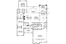 Traditional Floor Plan - Main Floor Plan Plan #929-983