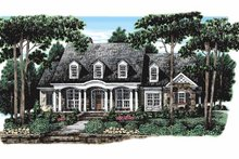 Colonial Exterior - Front Elevation Plan #927-106