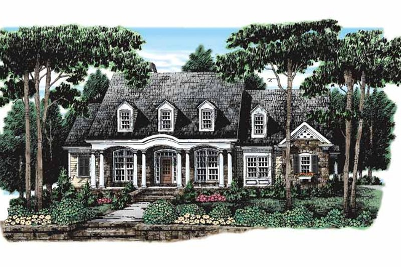 House Plan Design - Colonial Exterior - Front Elevation Plan #927-106