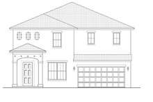 Mediterranean Exterior - Front Elevation Plan #1058-65