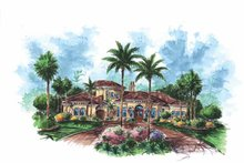 Home Plan - Mediterranean Exterior - Front Elevation Plan #1017-103