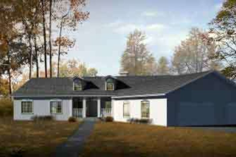 Ranch Style House Plan - 6 Beds 5 Baths 2503 Sq/Ft Plan #1-1469 Exterior - Front Elevation