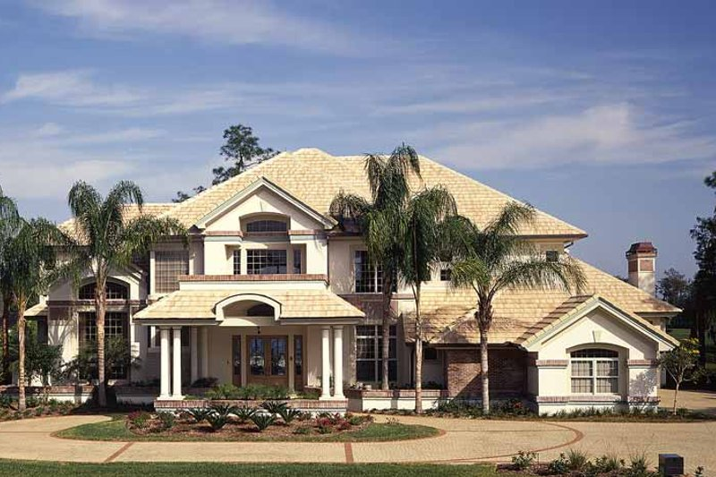 Mediterranean Exterior - Front Elevation Plan #930-99 - Houseplans.com