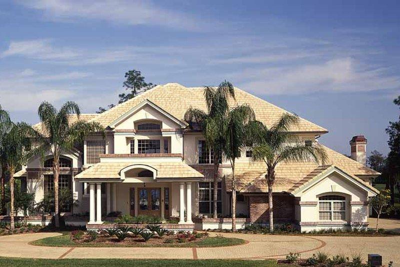 House Plan Design - Mediterranean Exterior - Front Elevation Plan #930-99