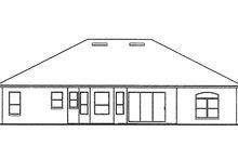 Architectural House Design - Mediterranean Exterior - Rear Elevation Plan #417-574