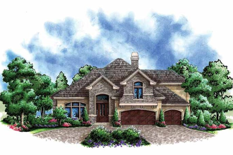 Craftsman Exterior - Front Elevation Plan #1017-153