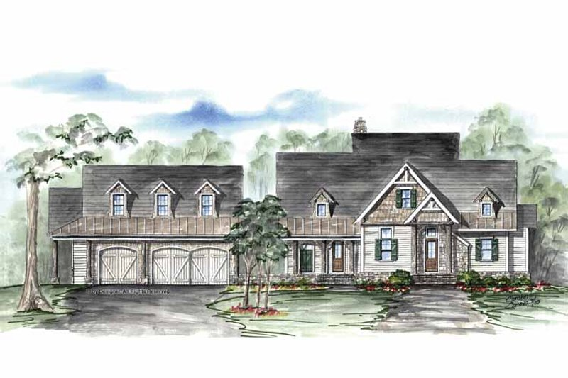 Country Exterior - Front Elevation Plan #54-316 - Houseplans.com