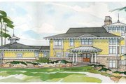 Prairie Style House Plan - 3 Beds 3 Baths 4322 Sq/Ft Plan #928-38 Exterior - Front Elevation