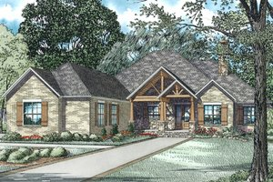 Architectural House Design - Ranch Exterior - Front Elevation Plan #17-3367