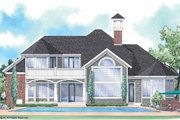 Colonial Style House Plan - 3 Beds 3.5 Baths 2913 Sq/Ft Plan #930-292 Exterior - Rear Elevation