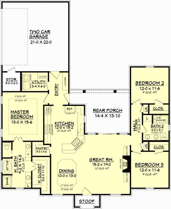 European Floor Plan - Main Floor Plan Plan #430-84