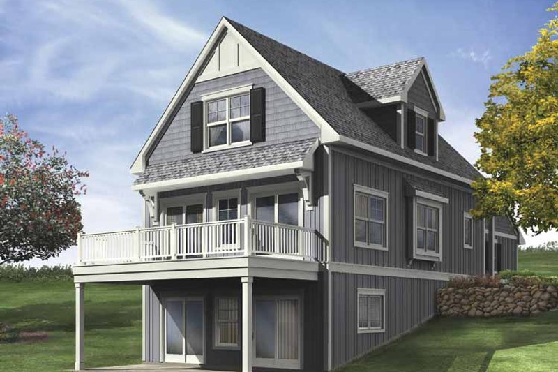 Traditional Exterior - Front Elevation Plan #928-109 - Houseplans.com