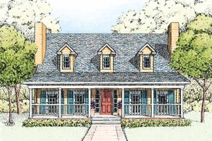 Architectural House Design - Country Exterior - Front Elevation Plan #1051-6