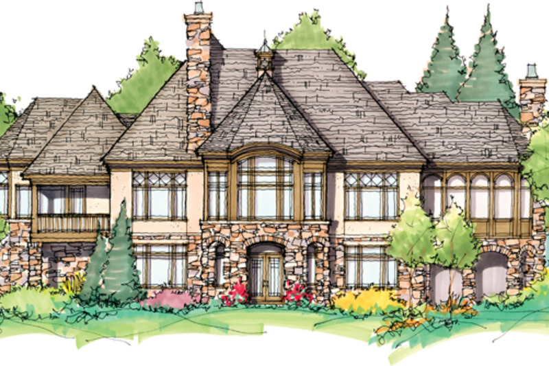 Tudor Exterior - Rear Elevation Plan #929-947 - Houseplans.com