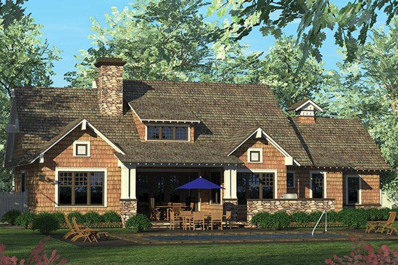 Craftsman Exterior - Rear Elevation Plan #453-611 - Houseplans.com