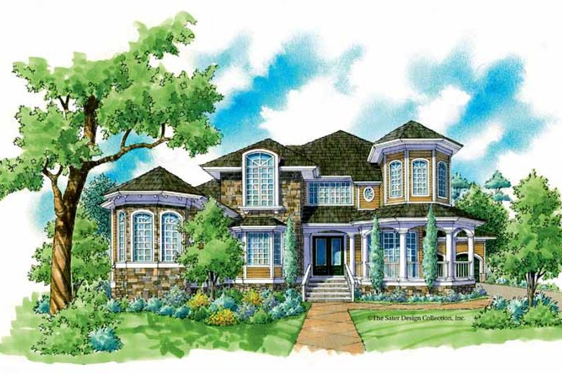 House Plan Design - Country Exterior - Front Elevation Plan #930-237