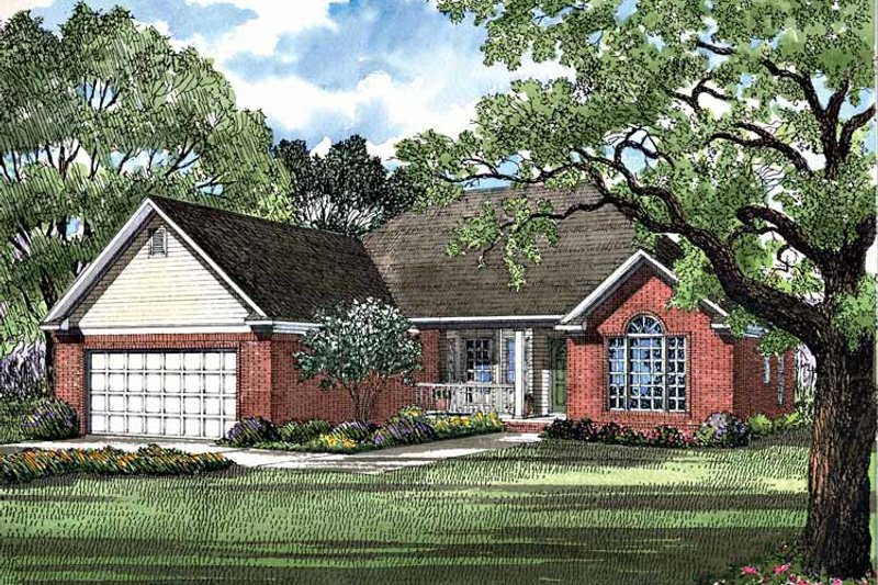 Ranch Exterior - Front Elevation Plan #17-3115