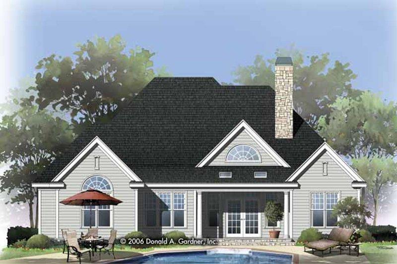 Traditional Exterior - Rear Elevation Plan #929-822 - Houseplans.com