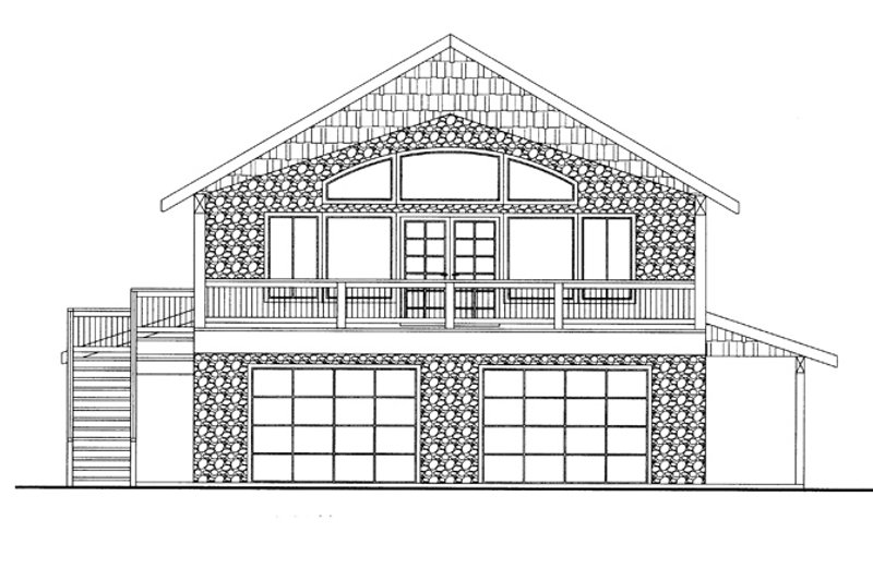 Country Exterior - Front Elevation Plan #117-836 - Houseplans.com