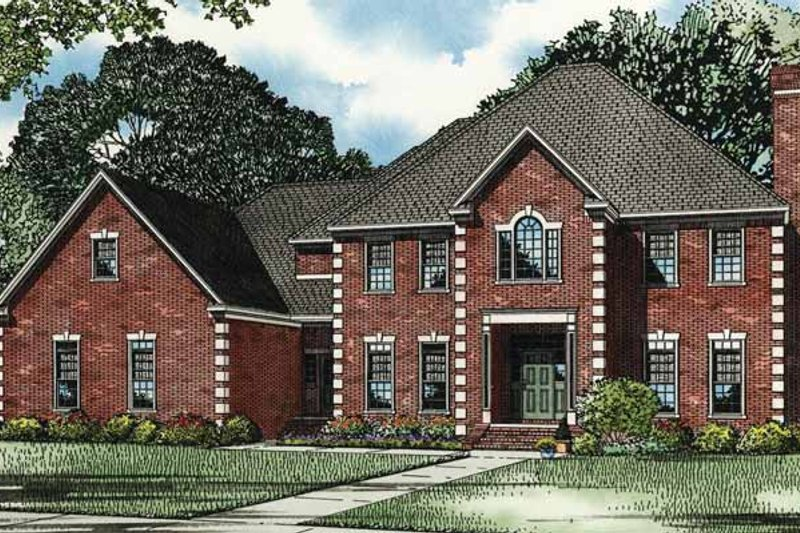 European Exterior - Front Elevation Plan #17-3276