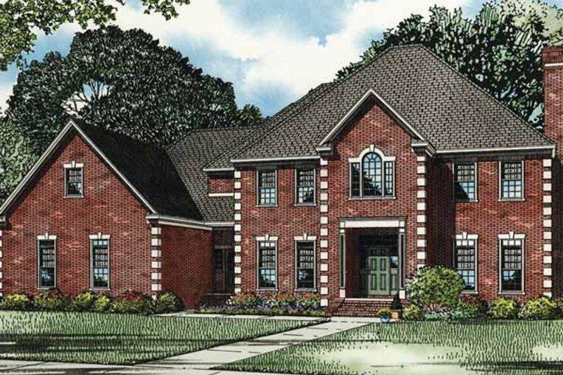 House Plan Design - European Exterior - Front Elevation Plan #17-3276