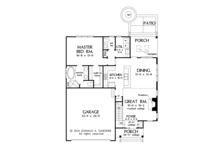 Colonial Floor Plan - Main Floor Plan Plan #929-989