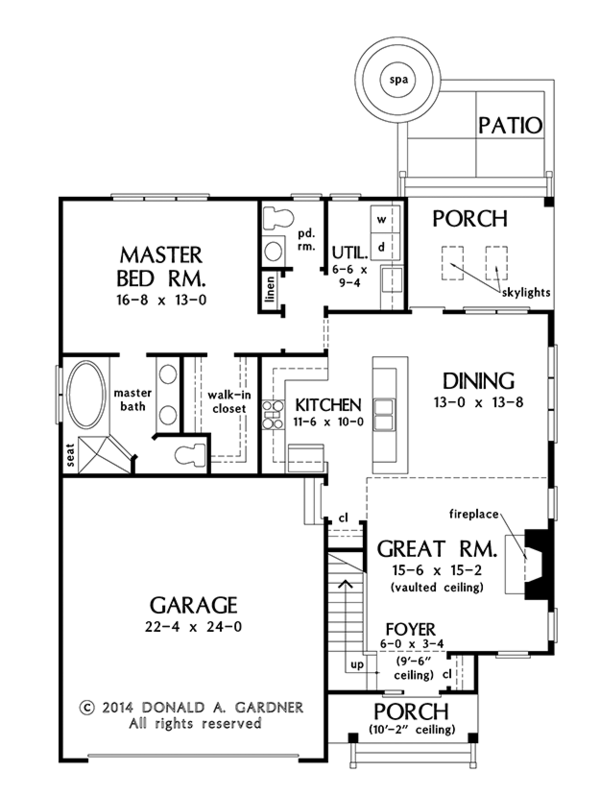 Colonial Floor Plan - Main Floor Plan Plan #929-989