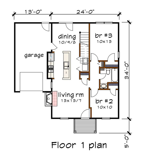 Traditional Floor Plan - Main Floor Plan #79-148