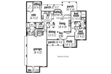 European Floor Plan - Main Floor Plan Plan #45-291