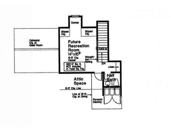European Floor Plan - Other Floor Plan #310-994