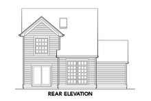 Home Plan - Country Exterior - Rear Elevation Plan #48-307