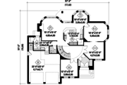 European Style House Plan - 3 Beds 2 Baths 3159 Sq/Ft Plan #25-4855 Floor Plan - Main Floor Plan