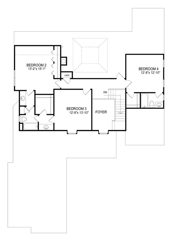 Country Floor Plan - Upper Floor Plan Plan #30-343