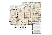 Southern Style House Plan - 3 Beds 3 Baths 3737 Sq/Ft Plan #36-243 Floor Plan - Main Floor Plan