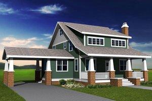 Craftsman Exterior - Front Elevation Plan #461-30