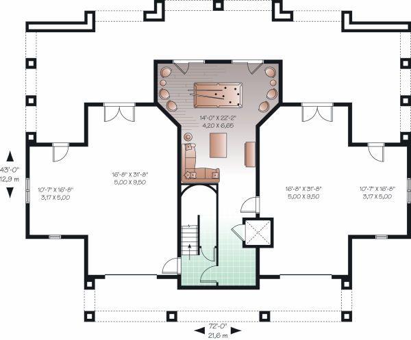 Beach Floor Plan - Lower Floor Plan Plan #23-854