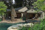 European Style House Plan - 3 Beds 3.5 Baths 3230 Sq/Ft Plan #120-185 Exterior - Rear Elevation