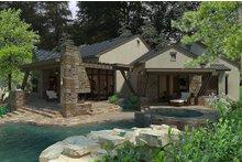 Rear view - 3200 square foot European home