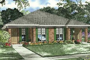 Southern Exterior - Front Elevation Plan #17-1095