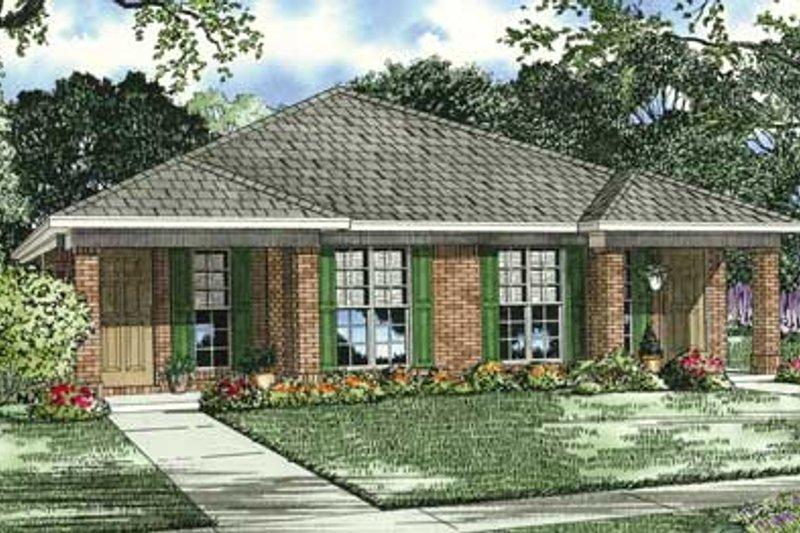 Southern Style House Plan - 2 Beds 1 Baths 1844 Sq/Ft Plan #17-1095