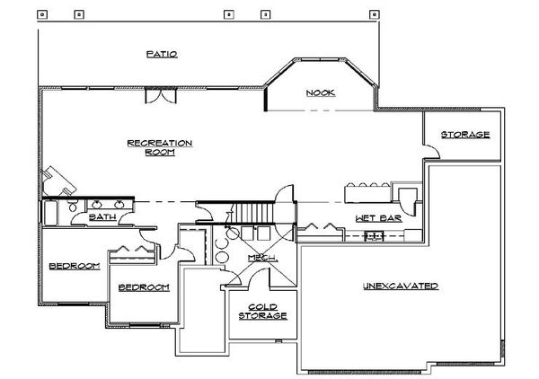 European Floor Plan - Lower Floor Plan Plan #5-376