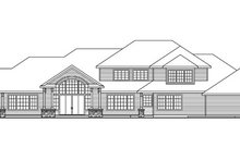 House Plan Design - Traditional Exterior - Rear Elevation Plan #124-829