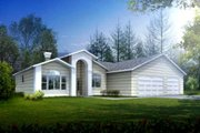 Traditional Style House Plan - 3 Beds 2 Baths 1665 Sq/Ft Plan #1-1324 Exterior - Front Elevation