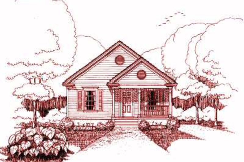 Bungalow Exterior - Front Elevation Plan #79-116